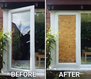 Plywood Window Boarding